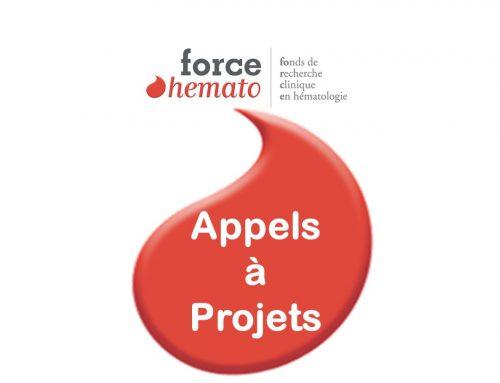 Force Hémato :  lauréats des Appels à Projets 2020