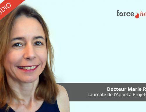 Le Docteur Marie Robin, lauréate de l'Appel à Projets 2019, au micro de Force Hémato